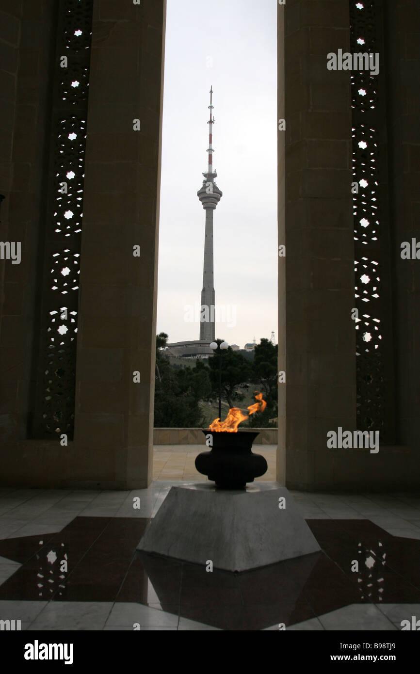 Glory Memorial in the hero city of Baku - Stock Image