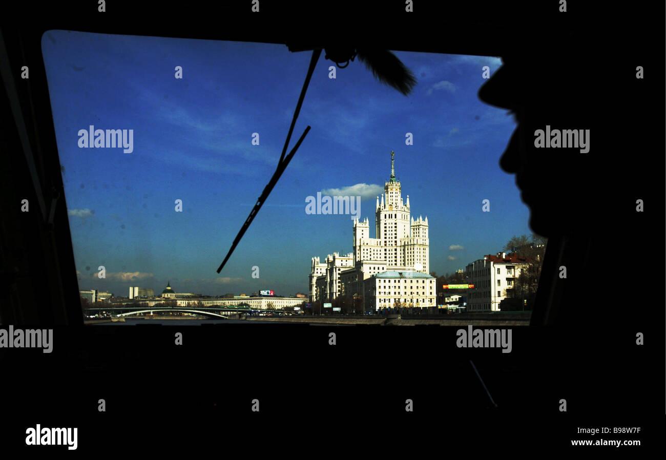 The Moskva River starts passenger navigation today - Stock Image