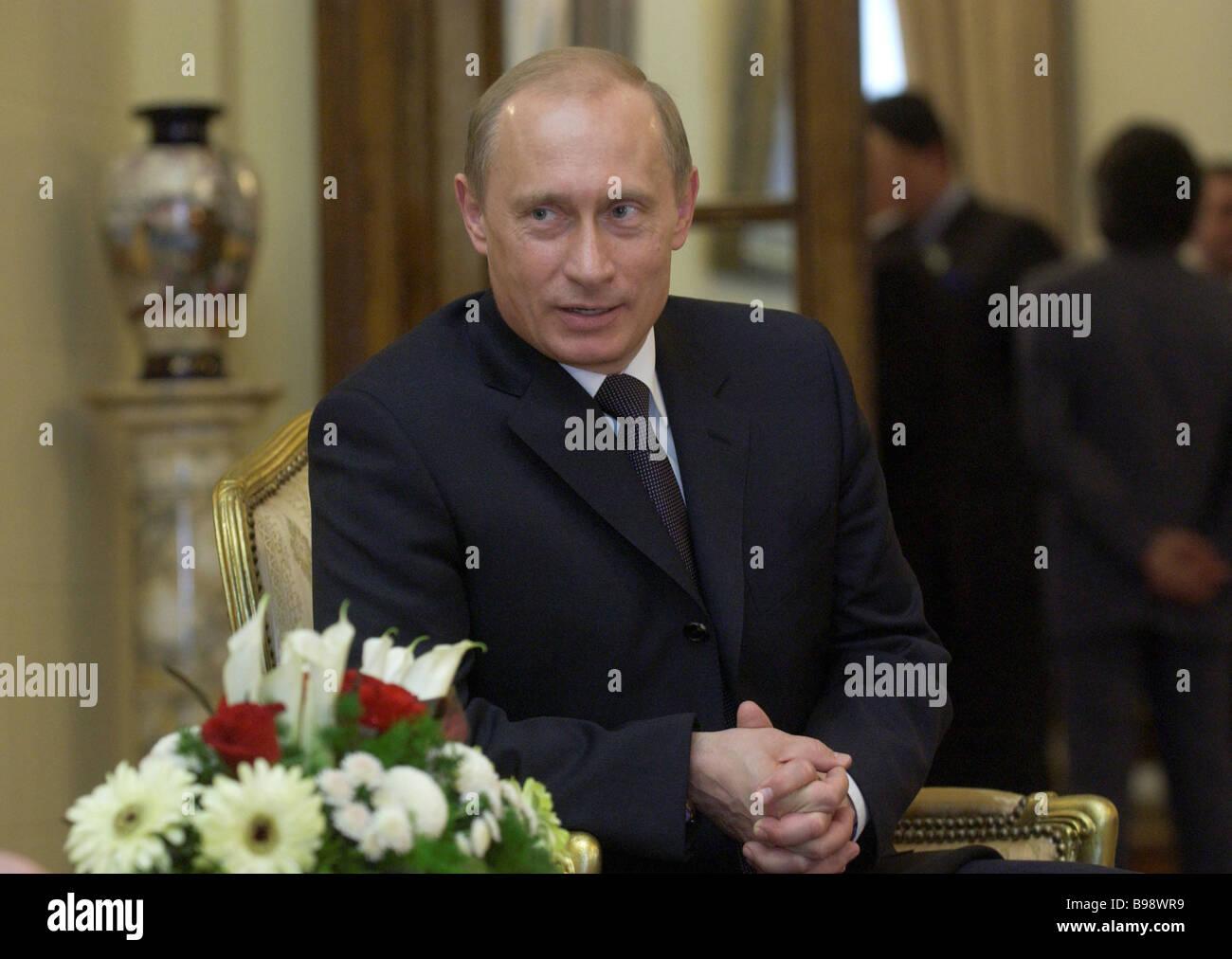 Russian President Vladimir Putin s visit to Egypt - Stock Image