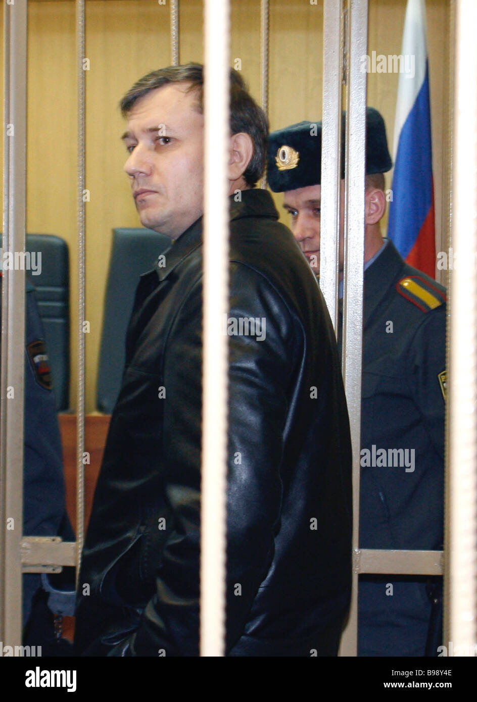 Grigory Grabovoi in the Moscow Tagansky Court which postponed hearings in the case of this notorious sect leader - Stock Image