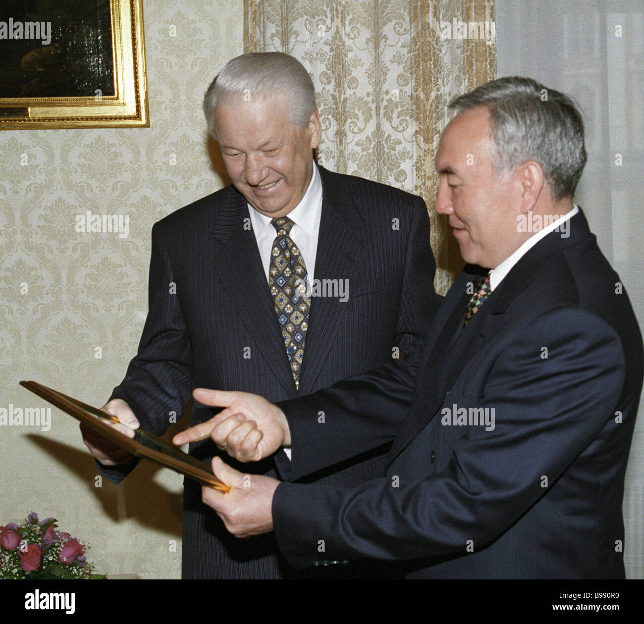 President Yeltsin: years of government and results 97