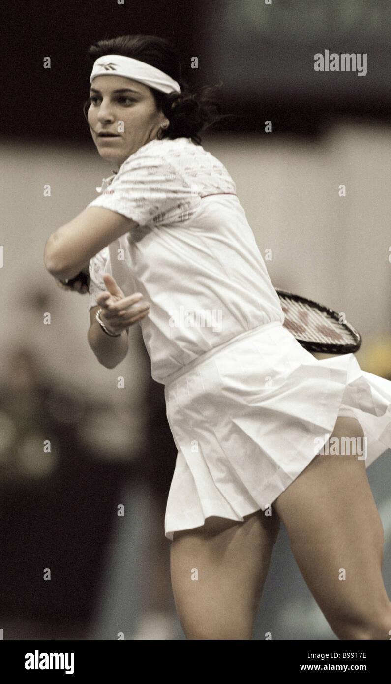 Tennis player Arantxa Sanchez Vicario The 8th international tennis tournament The Kremlin Cup - Stock Image