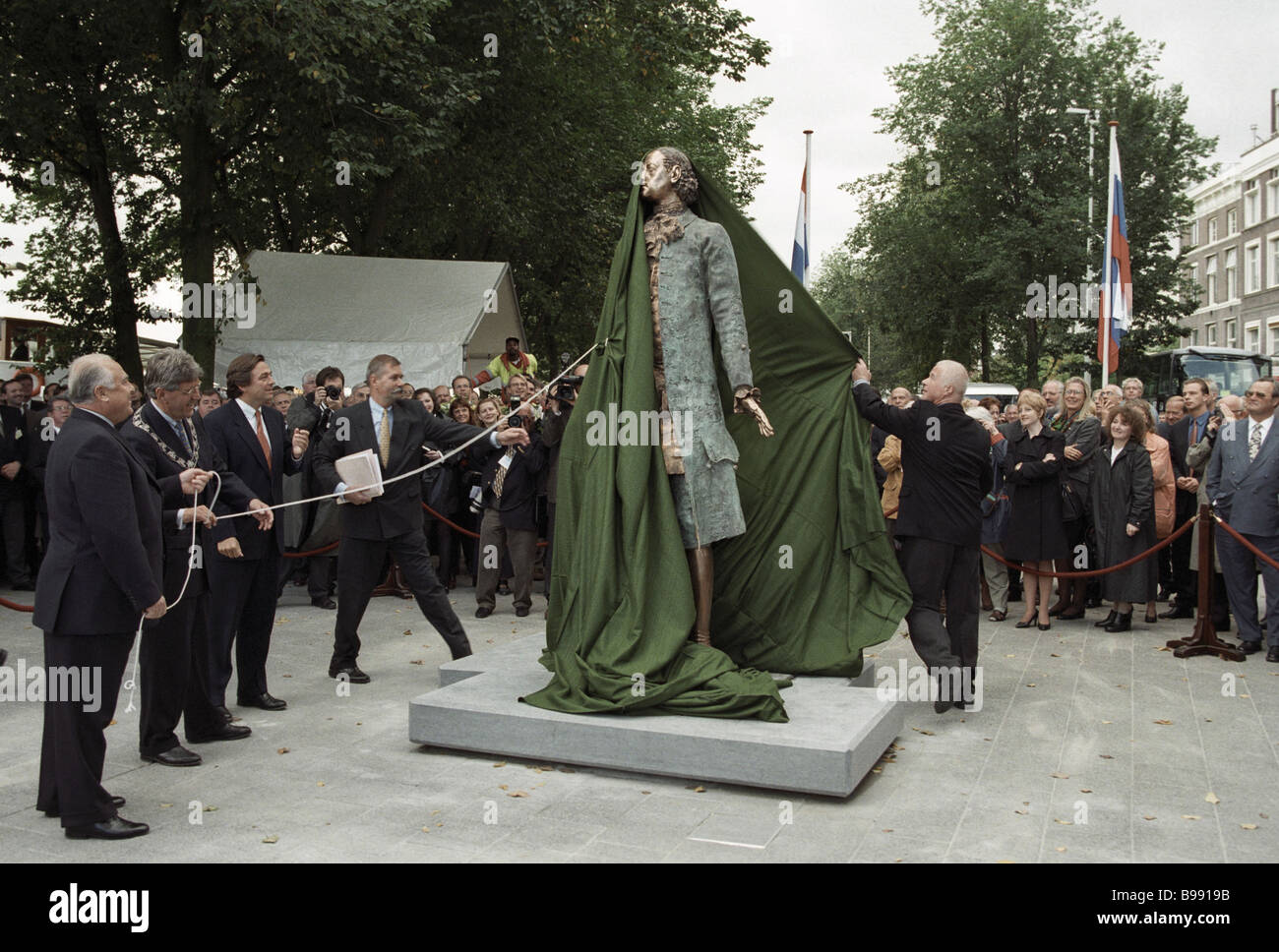 Opening of the monument to the Russian Emperor Peter the Great in Rotterdam - Stock Image