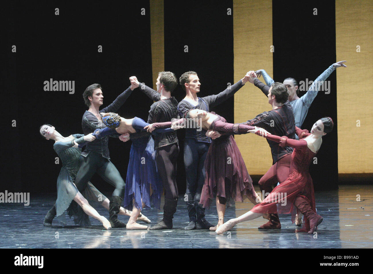 The ballet Misericordes with choreography by Christopher Wheeldon This ballet is performed in the framework of the - Stock Image