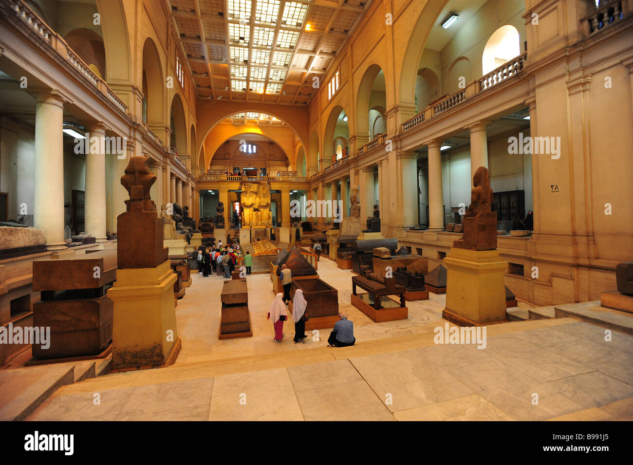 Egypt Cairo The Egyptian Museum Interior Museum Of Antiquities And Ancient  Culture View Of The Main Hall