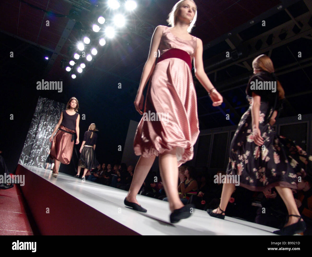 Show of young designers collections within 10th Moscow 2005 2006 Fall Winter Fashion Week - Stock Image