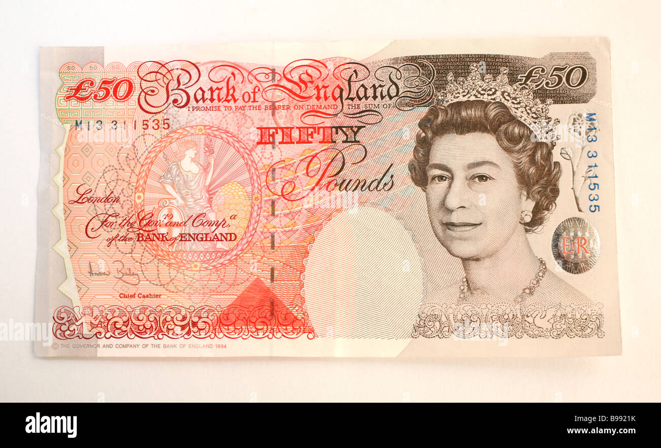 Fifty pound note - Stock Image