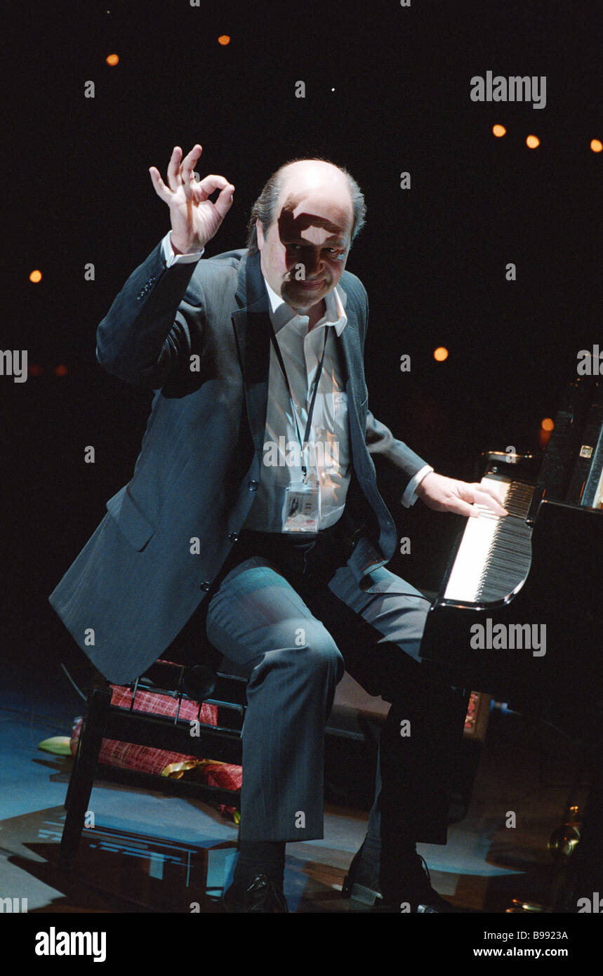 Jazz musician Igor Brill at the 1st Moscow International Jazz Performers Contest - Stock Image