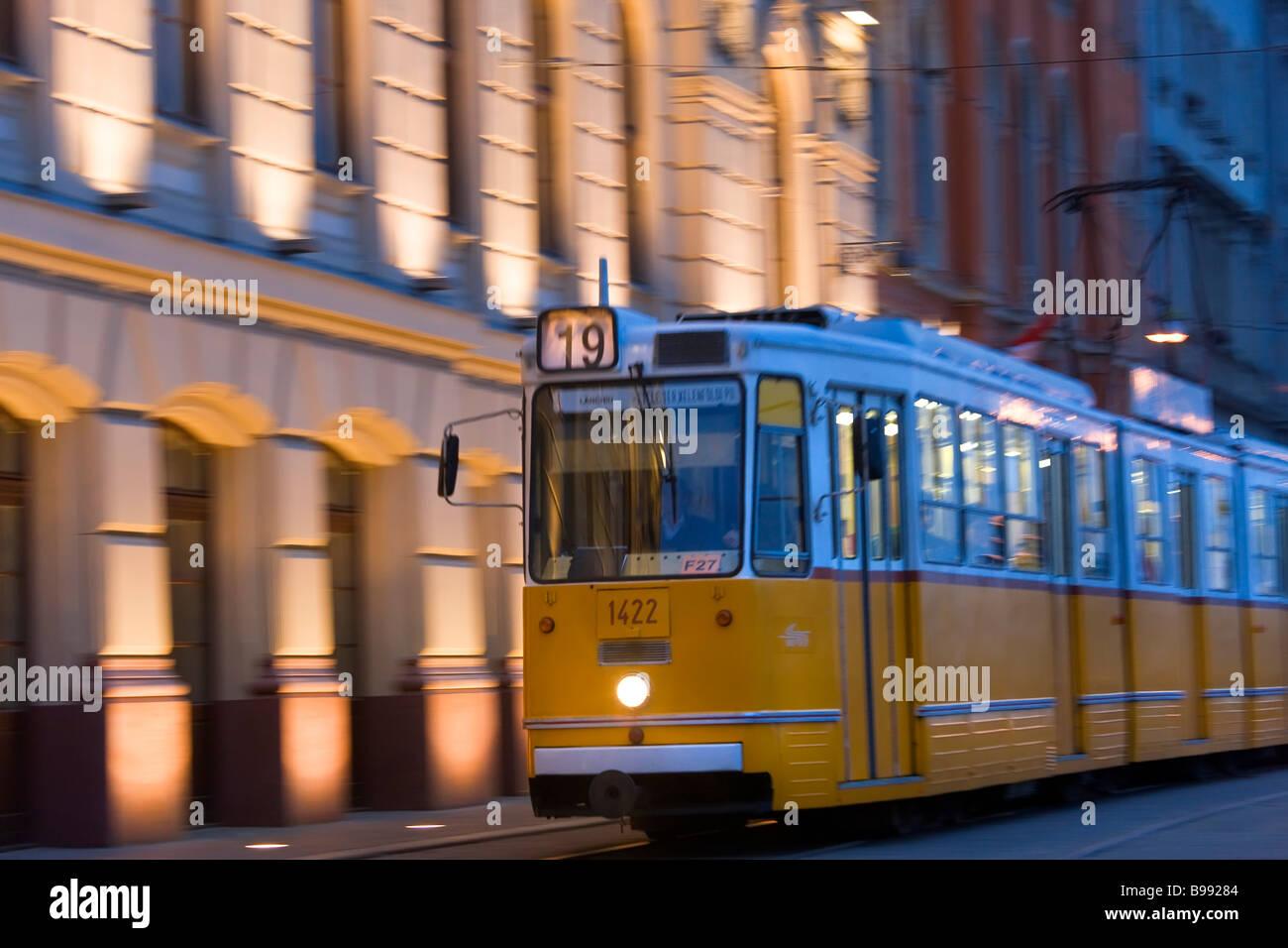 Tram Budapest Hungary - Stock Image