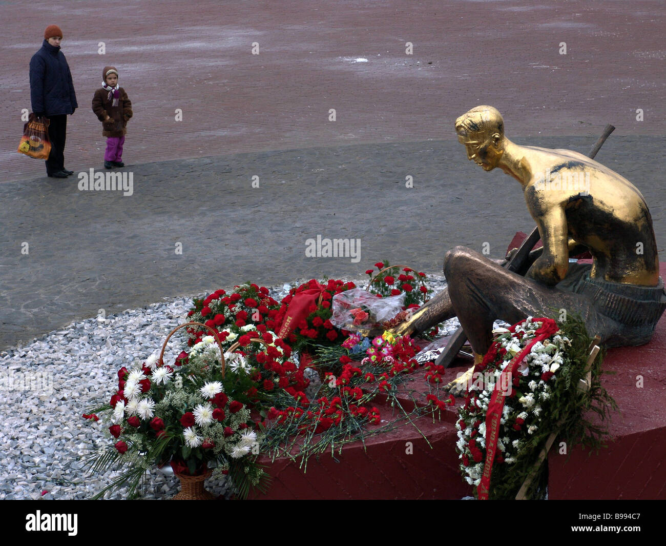 To the Soldier of the Fatherland monument that opened in Moscow - Stock Image