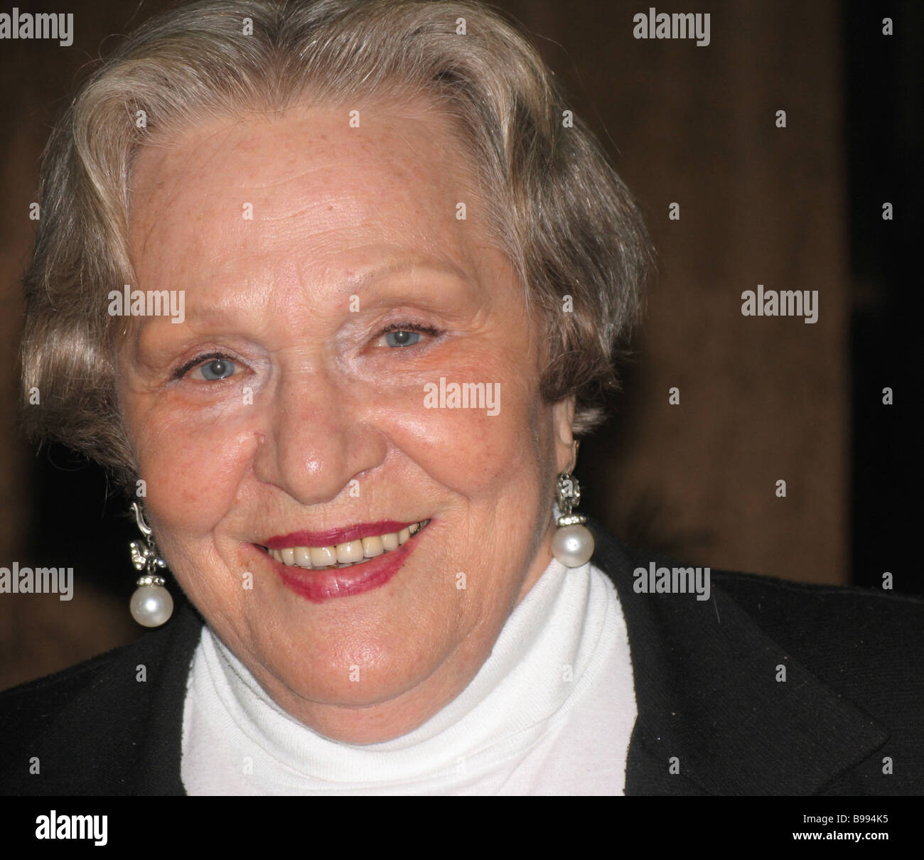 Rimma Markova People s Actress of Russia at the 9th Belye Stolby archive film festival - Stock Image