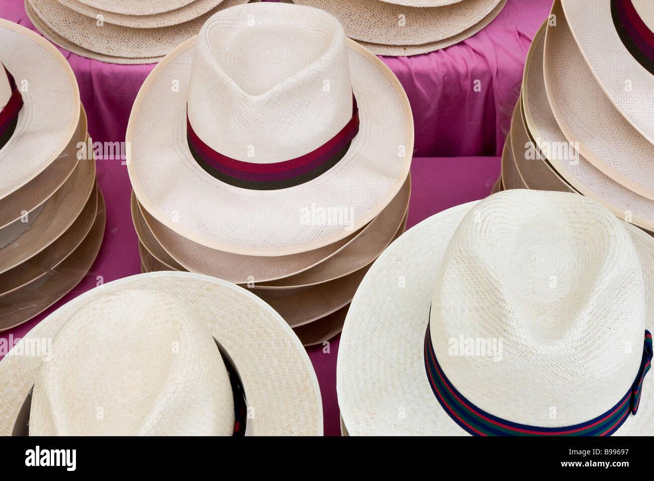 Panama hats Henley Royal Reggata Henley On Thames Oxfordshire - Stock Image