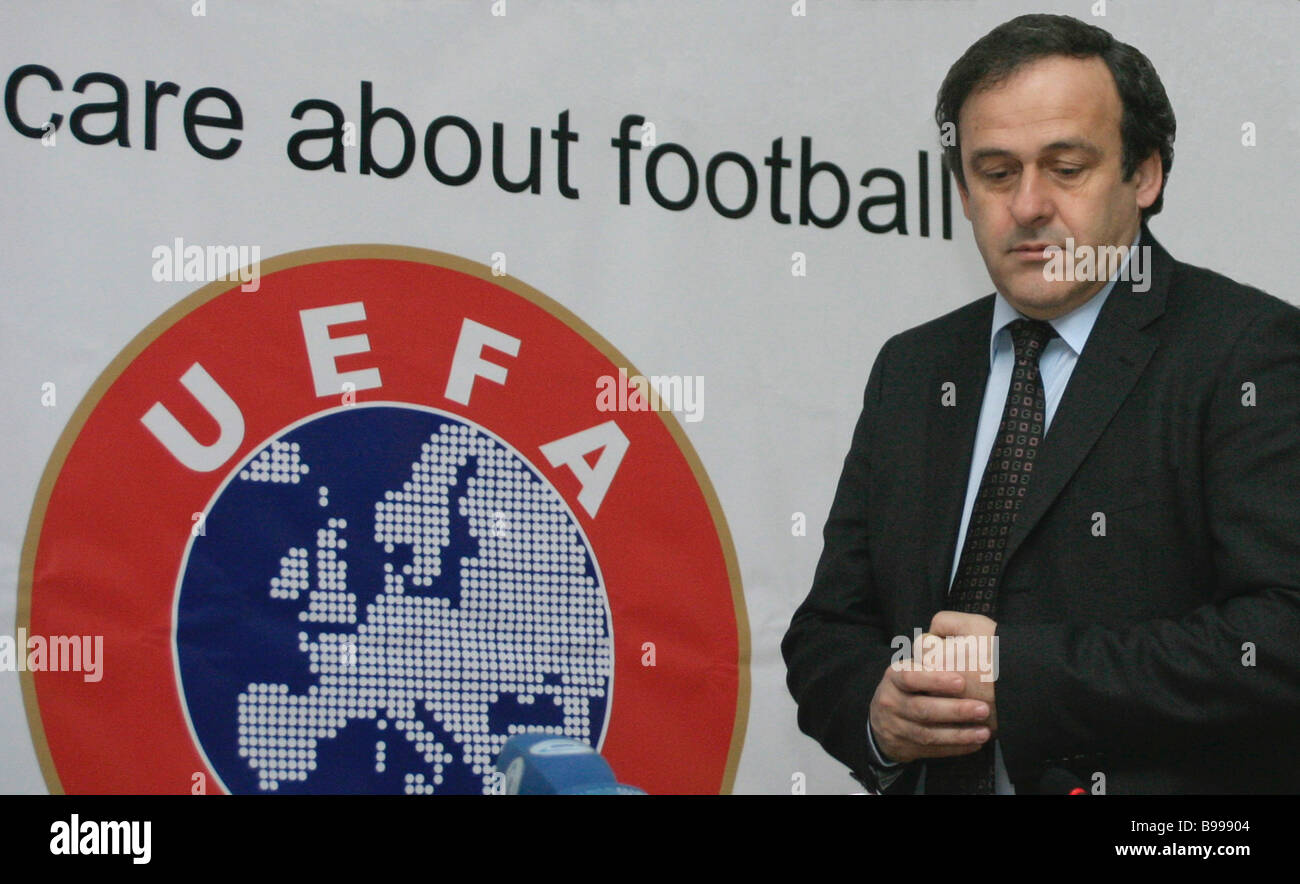 President of the European Football Associations Union Michel Platini Stock Photo