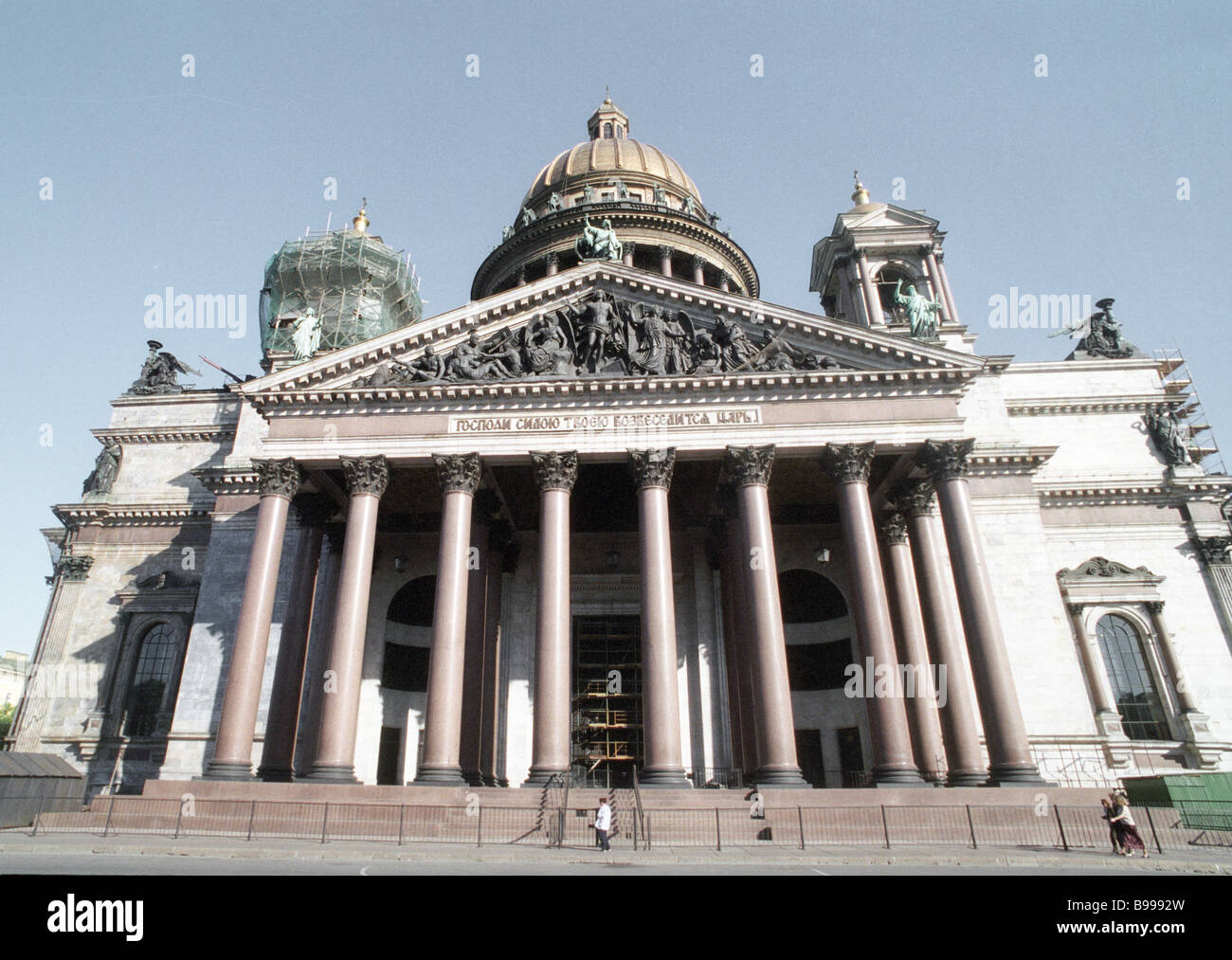 The St Isaac Cathedral built by French architect Auguste Ricard de Montferrand in 1818 1858 Stock Photo