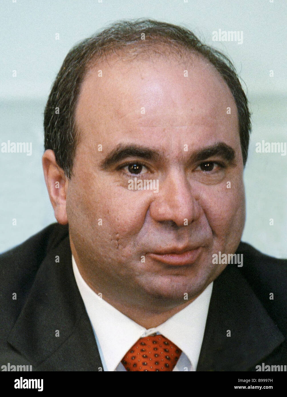 Georgian Prime Minister Zurab Zhvania died in an accident last night - Stock Image