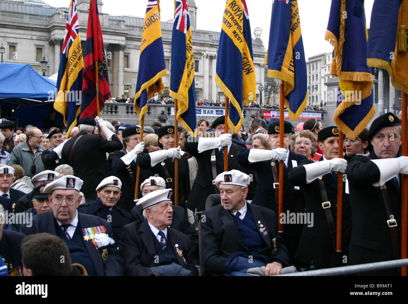 British veterans honorable guests of the Russian winter festival in London - Stock Image