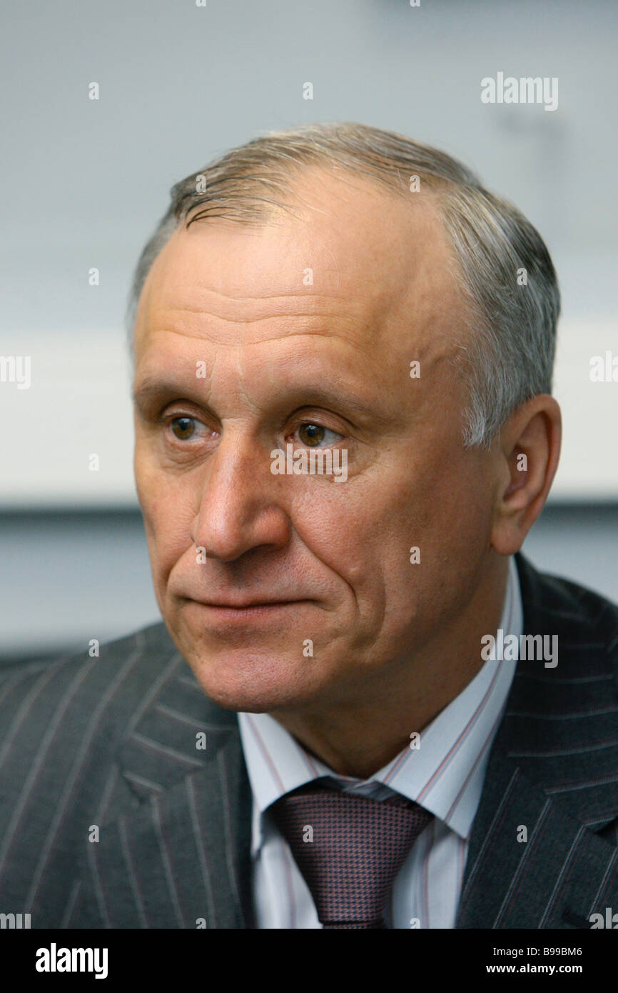 Gennady Burbulis the head of the commission of the Federation Council on the methodology of realization of the Federation - Stock Image