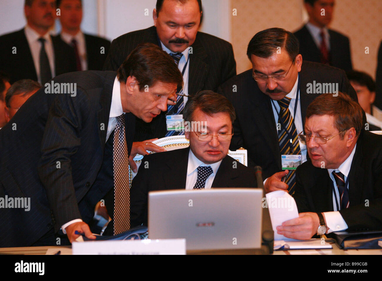 At the Council of Heads of governments of the CIS in Dushanbe - Stock Image