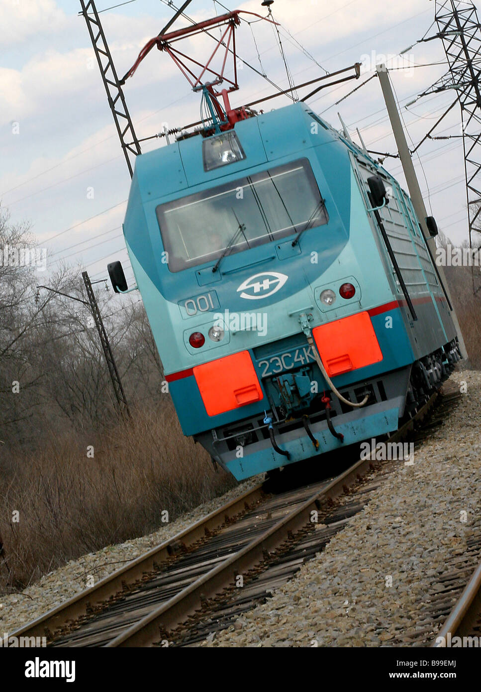 A Donchak direct current locomotive trial trip - Stock Image