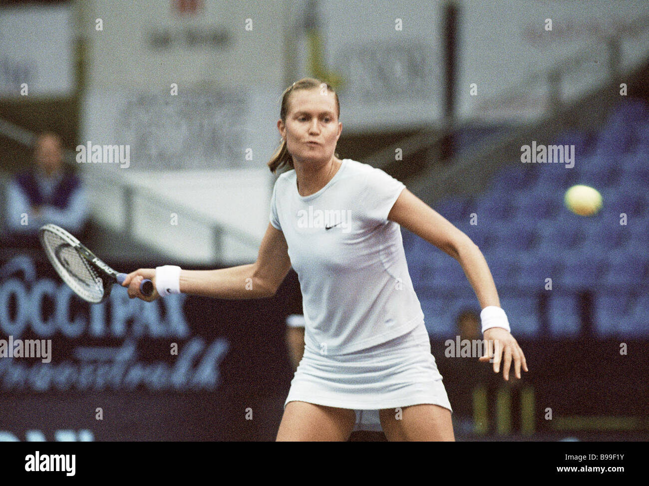 Yelena Bovina in a match the Kremlin Cup tournament - Stock Image