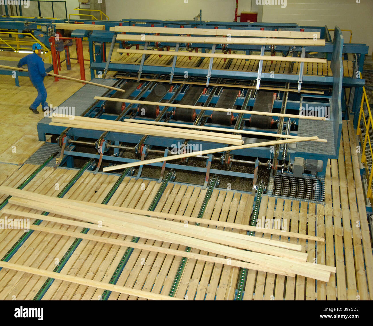 The OOO Svir Timber saw mill opened in the Leningrad Region It is a subsidiary of the Finnish concern Metsa Botnia Stock Photo