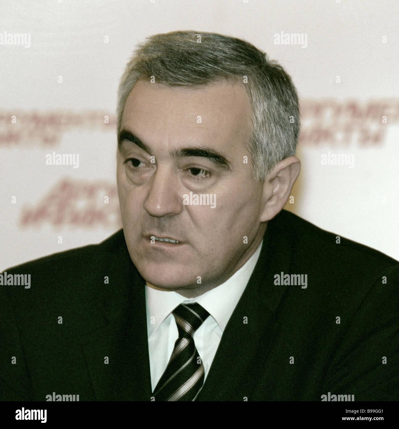 Murat Zyazikov President of Ingushetia - Stock Image