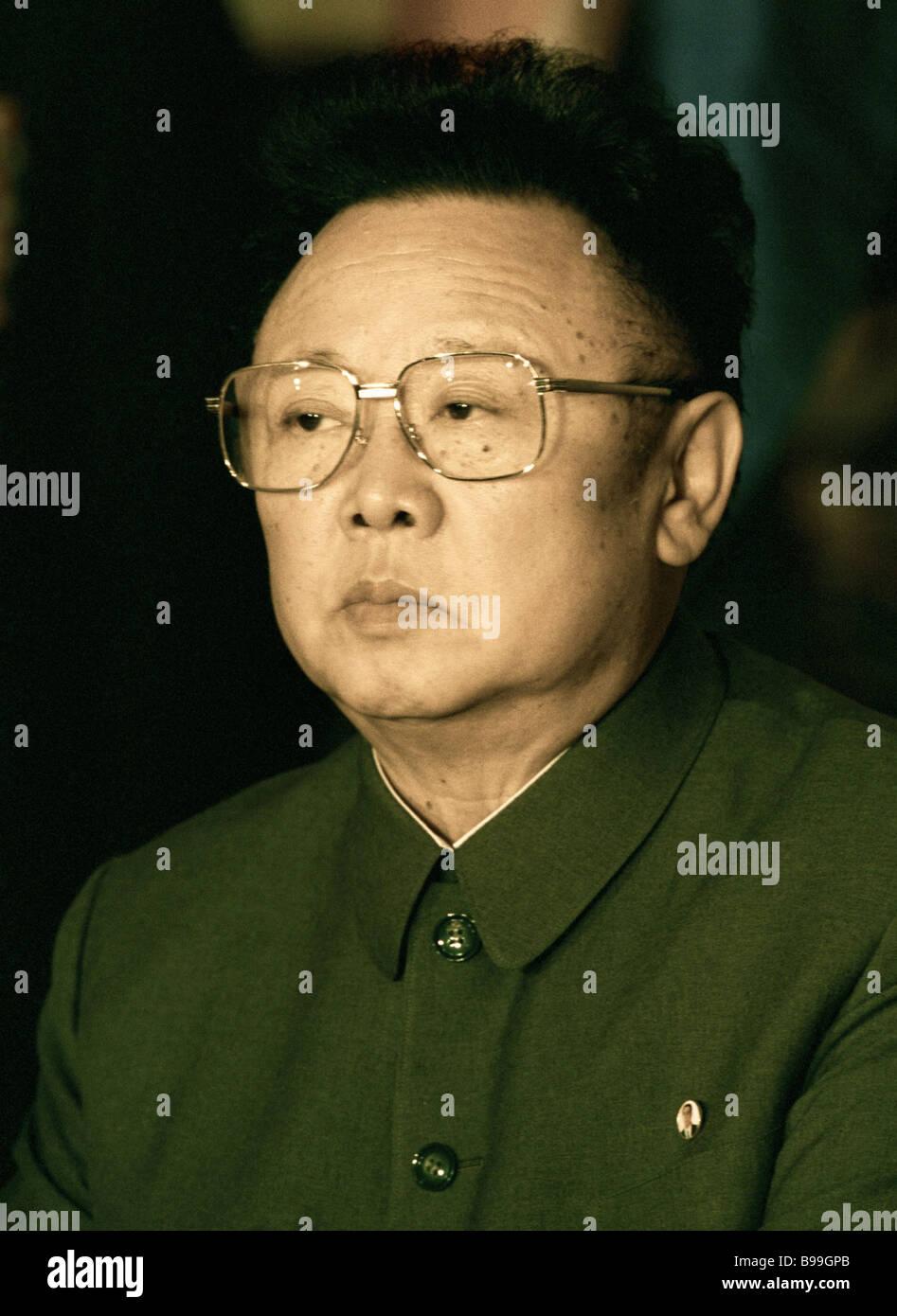 Kim Jong Il leader of the Democratic People s Republic of Korea visits Russia - Stock Image