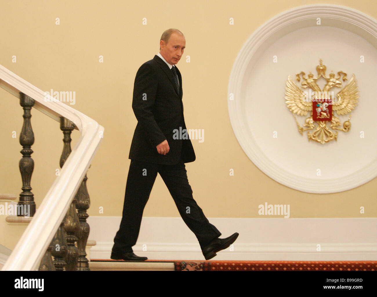 Vladimir Putin President of Russia in the Kremlin - Stock Image
