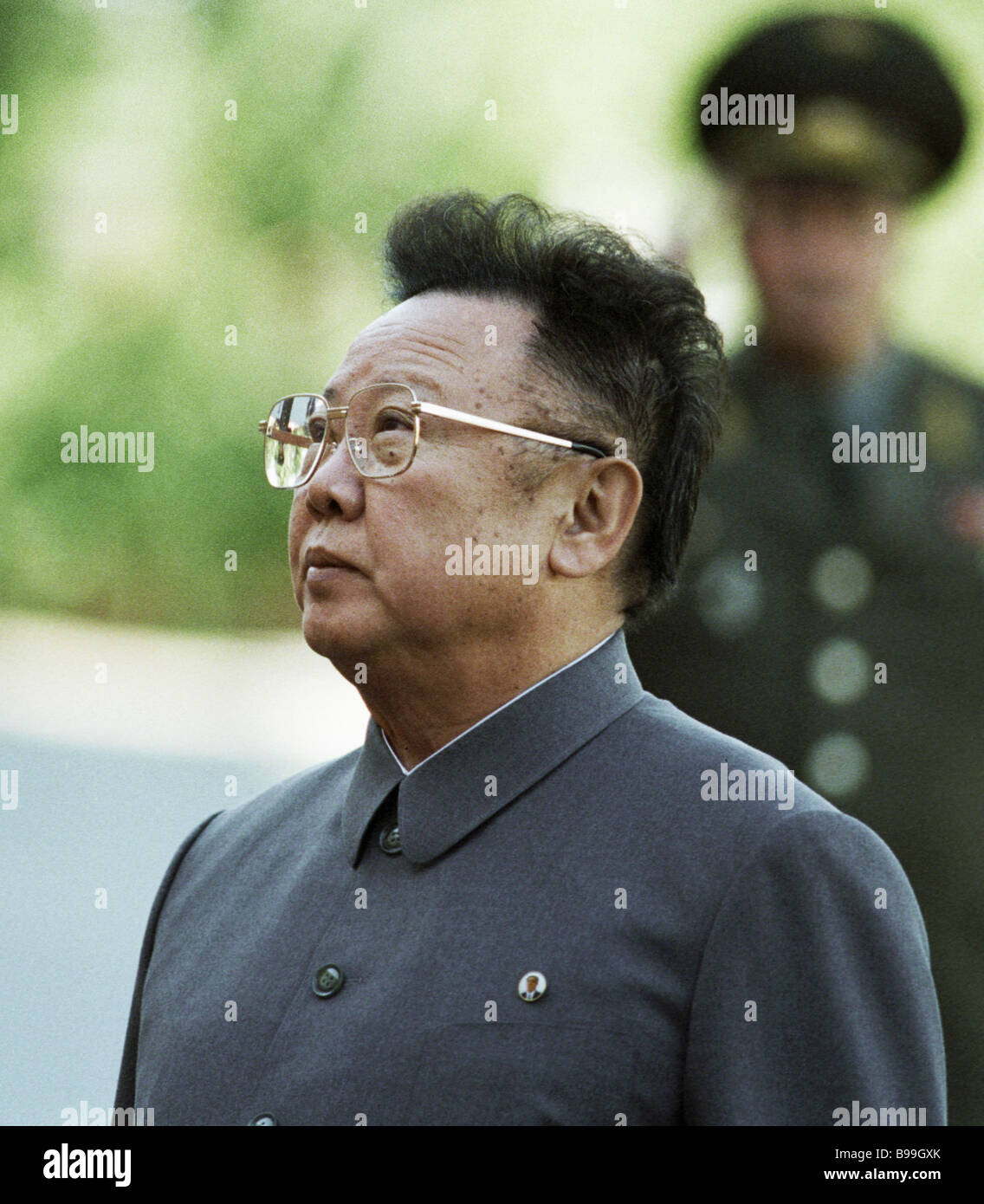 Leader of the Democratic People s Republic of Korea Kim Jong Il during his visit to Russia - Stock Image
