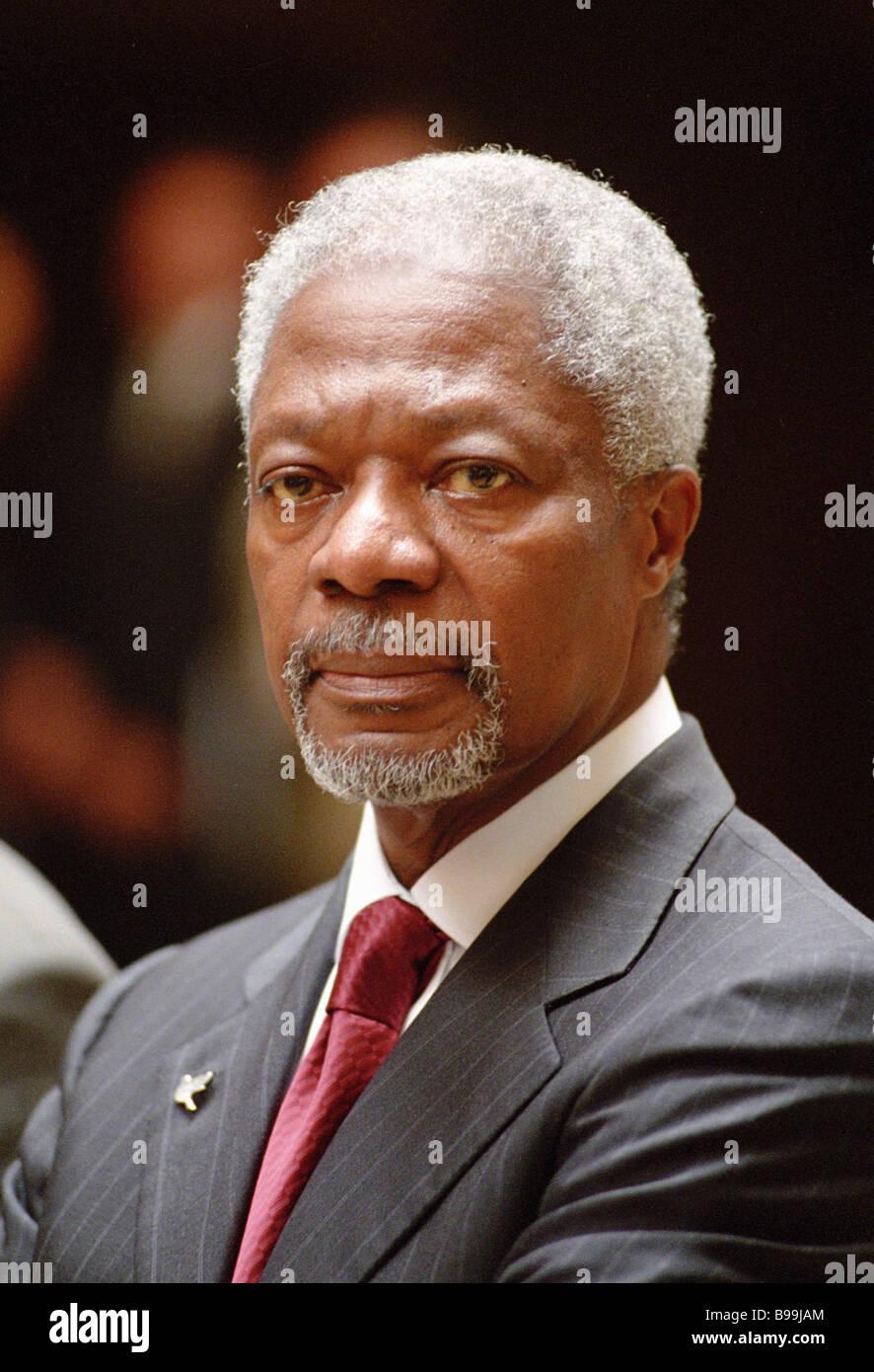 UN Secretary General Kofi Annan - Stock Image