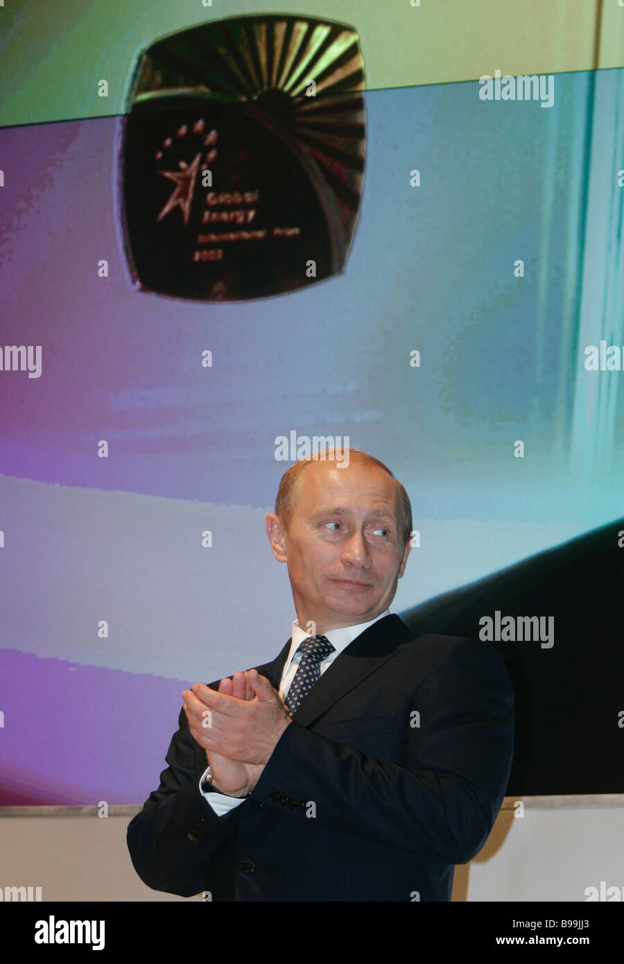 Russian President Vladimir Putin at the official ceremony of presenting the Global Energy international award - Stock Image