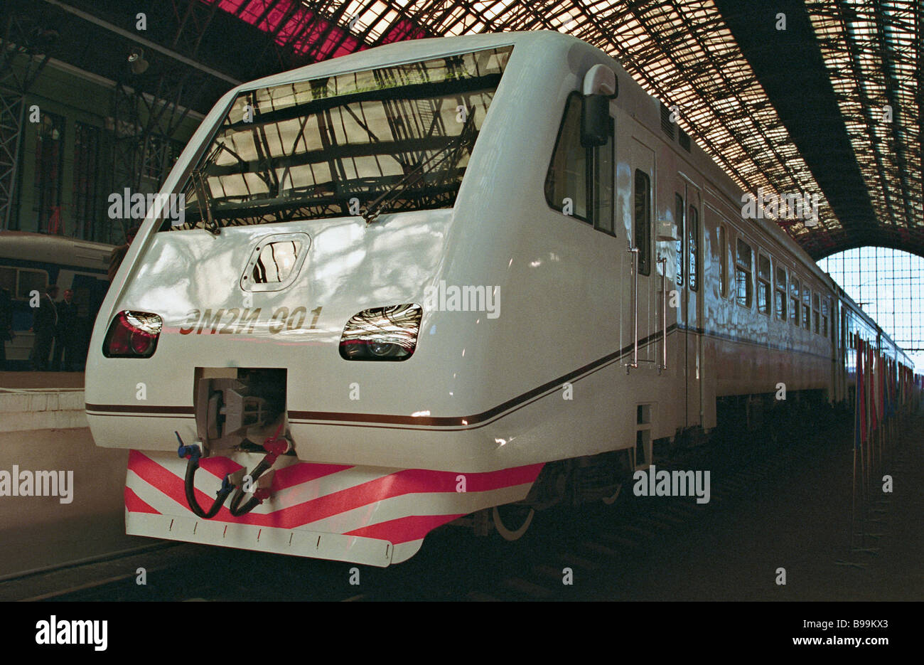 The EM2I 001 commuter electric train Stock Photo