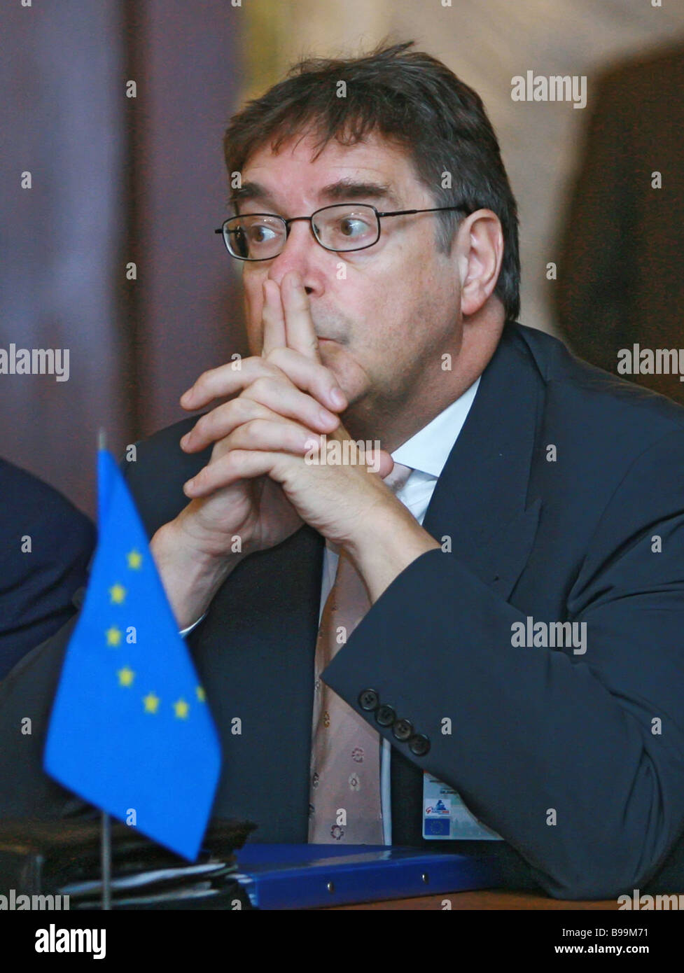 The EC representative in Russia Mark Franco at G8 Justice and Home Affairs Ministerial Meeting - Stock Image