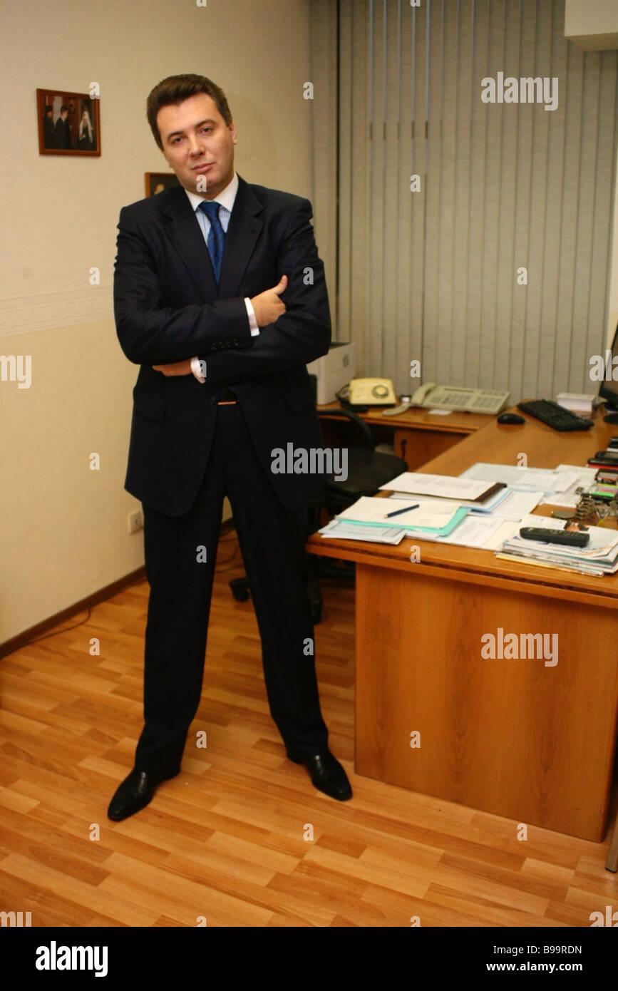 Dmitry Reikhart acting head of the Federal Mandatory Medical Insurance Fund - Stock Image