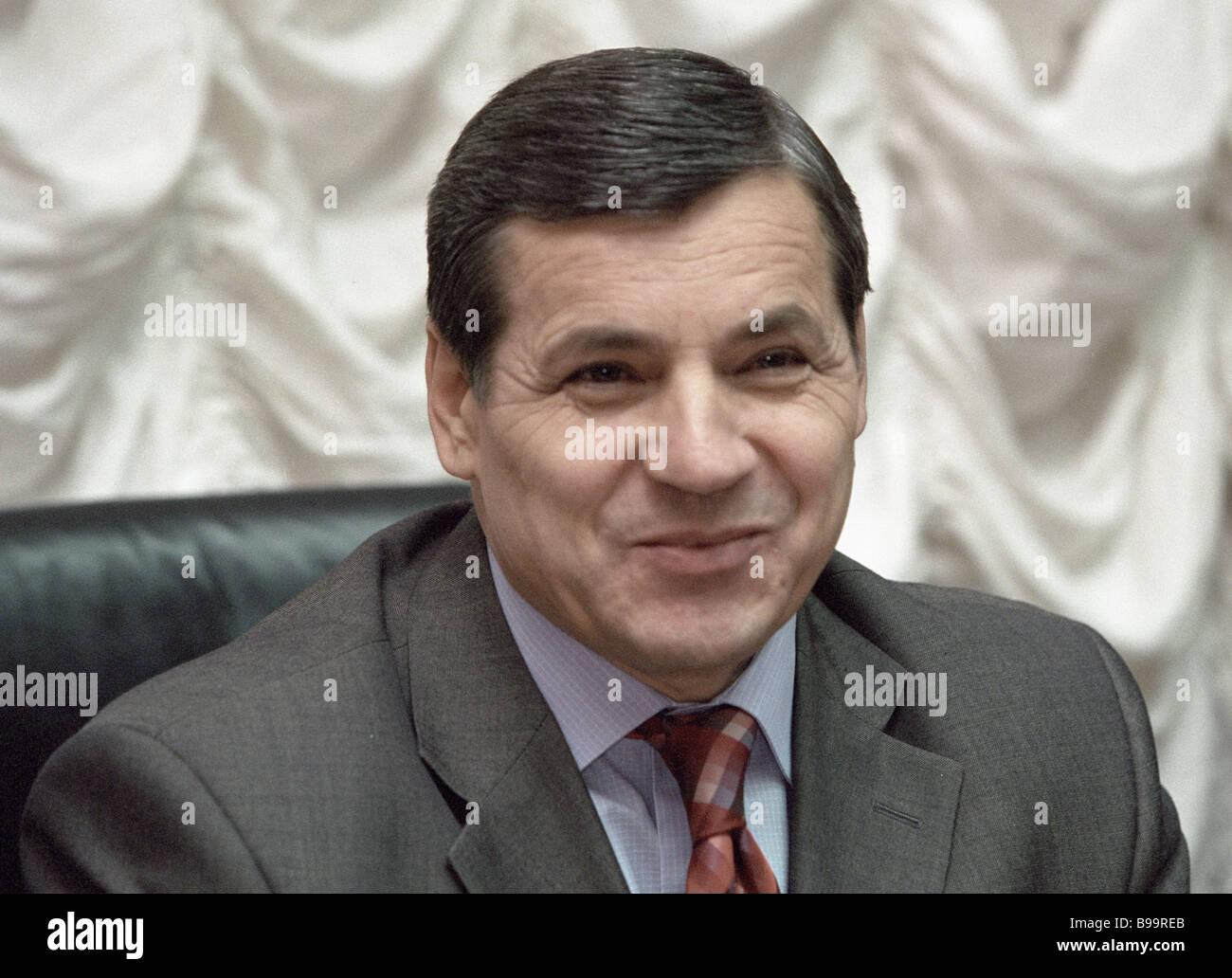 Alexander Lotorev head Russian State Duma s administration - Stock Image