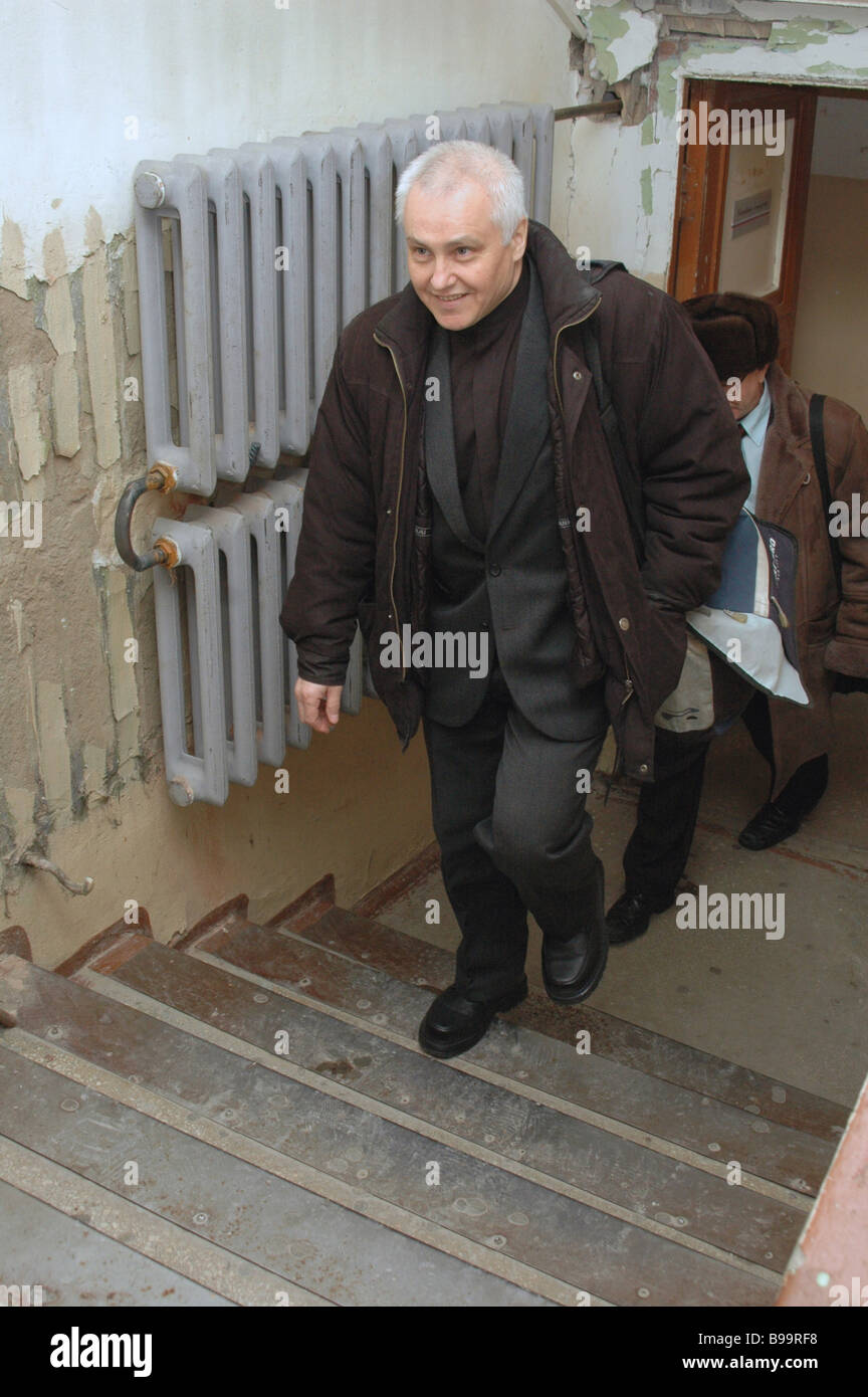 The court heeds request by lawyer of former State Press Committee Chairman Boris Mironov to close criminal case - Stock Image