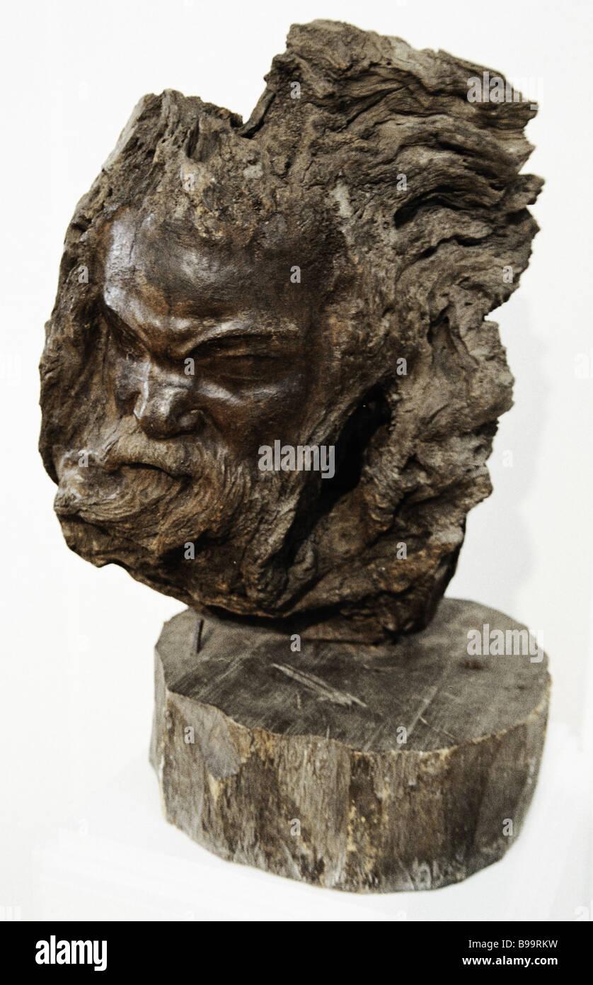 Socrates by sculptor Stepan Erzya 1940 - Stock Image