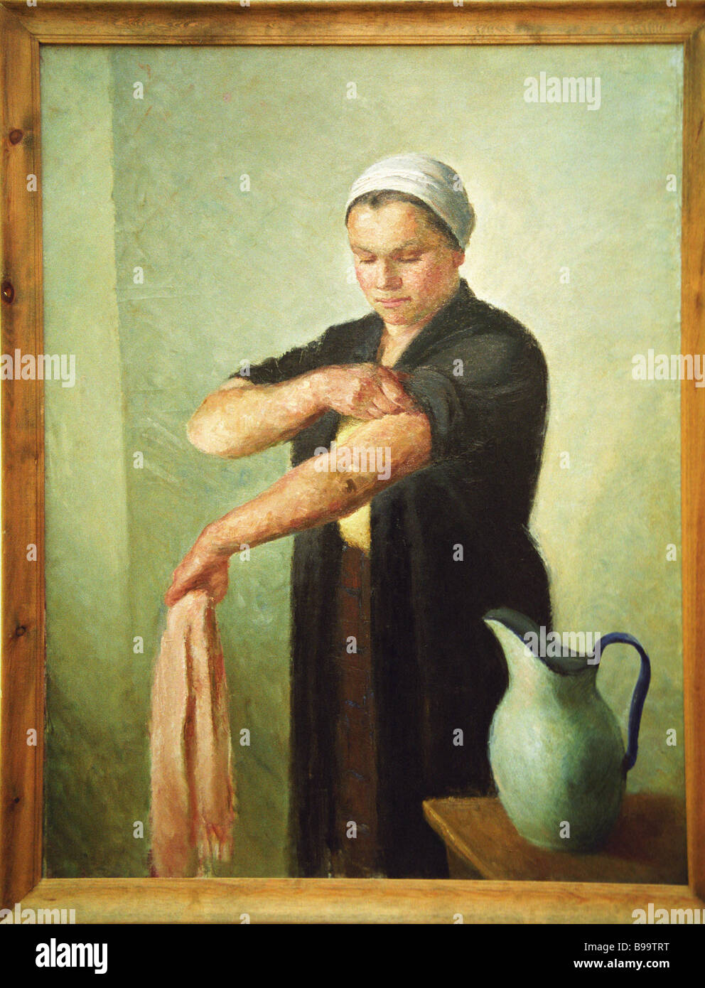 After Work O Yanovskaya Displayed at the exhibition Female Art State Tretyakov Gallery - Stock Image
