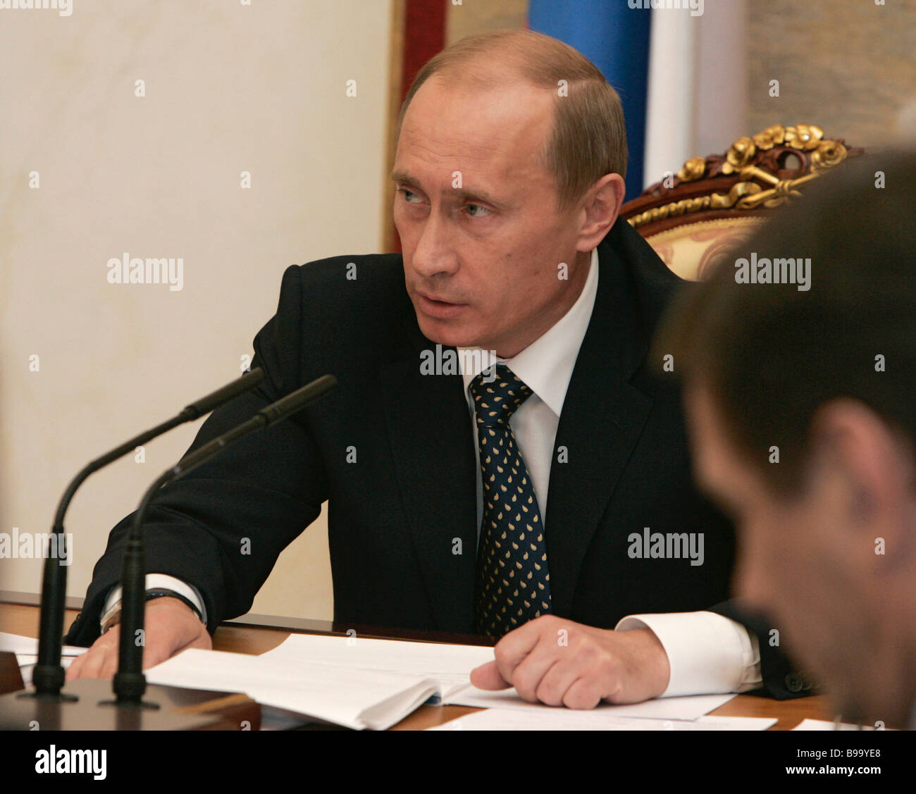 Russian President Vladimir Putin holding conference on economic issues in the Kremlin - Stock Image