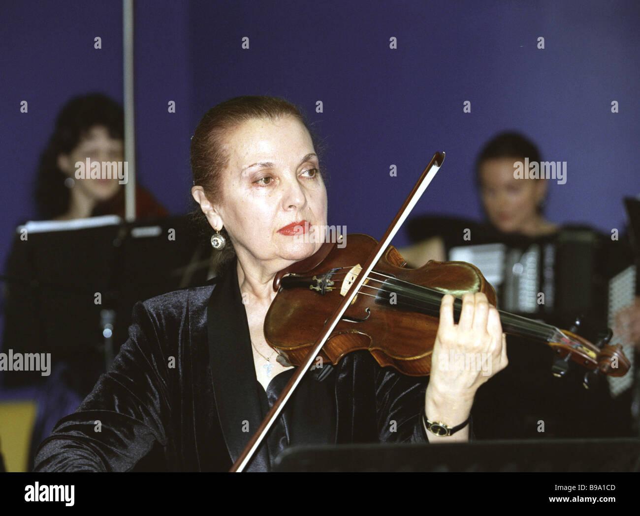 Svetlana Bezrodnaya Art Director of the Russian Academic Chamber Vivaldi Orchestra - Stock Image