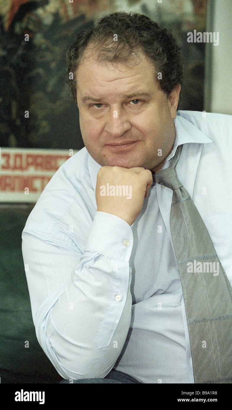 President of the Russian Advertising Agency Association Vladimir Yevstafiev - Stock Image