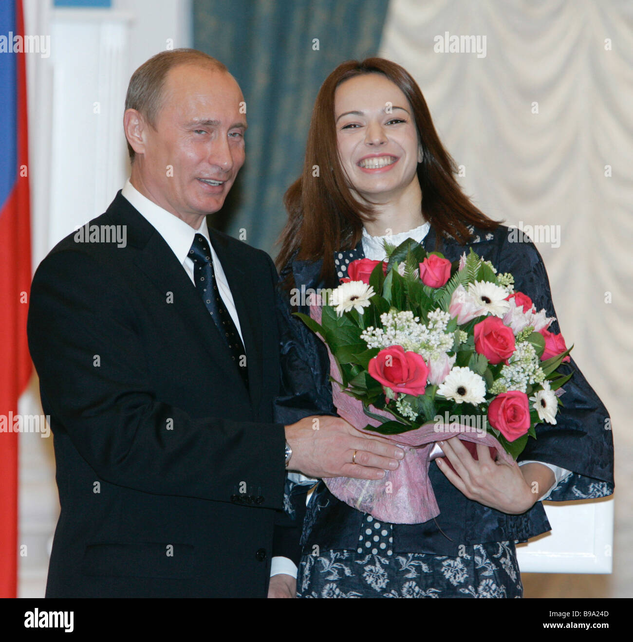 Russian President Vladimir Putin awarded the title of People s Artist of the Russian Federation to ballet dancer - Stock Image