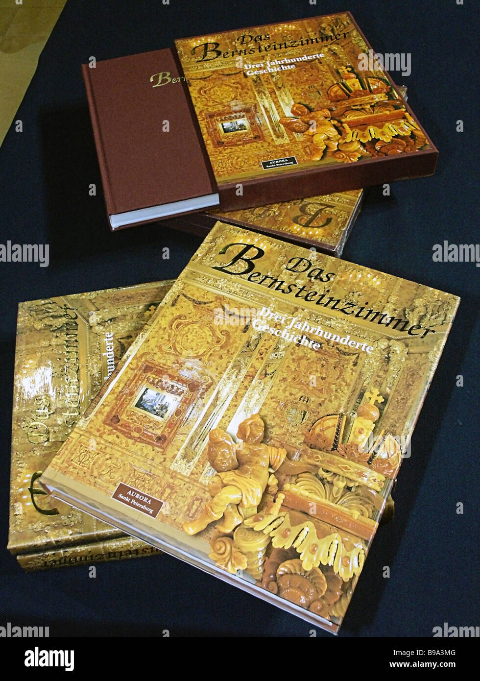 The presentation of the album The Amber Room published by the Russian publisher Avrora at the International Book - Stock Image
