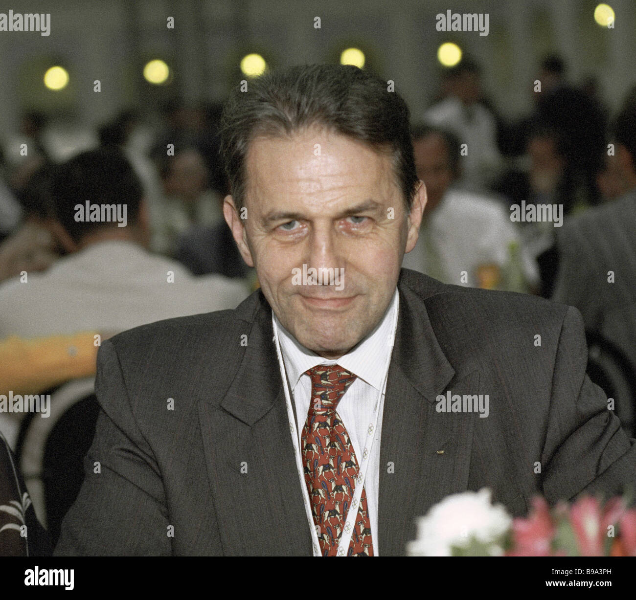Jacques Rogge International Olympic Committee President on visit to Moscow - Stock Image