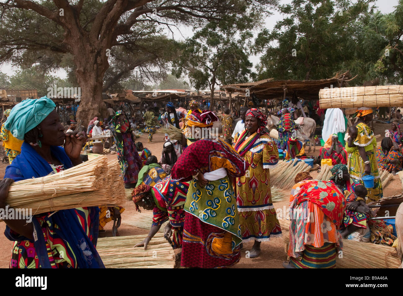 Western Africa Sahel Burkina Fasso Gorom Gorom One of the largest Weekly market in Sahel - Stock Image