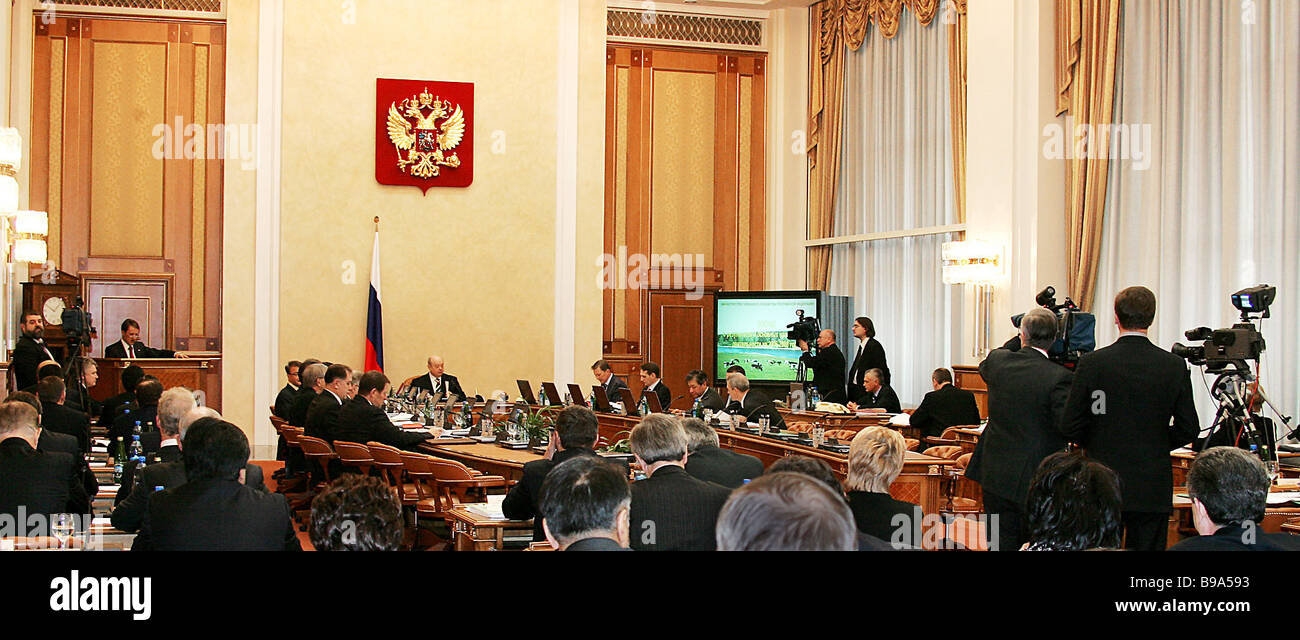 A Russian government session - Stock Image