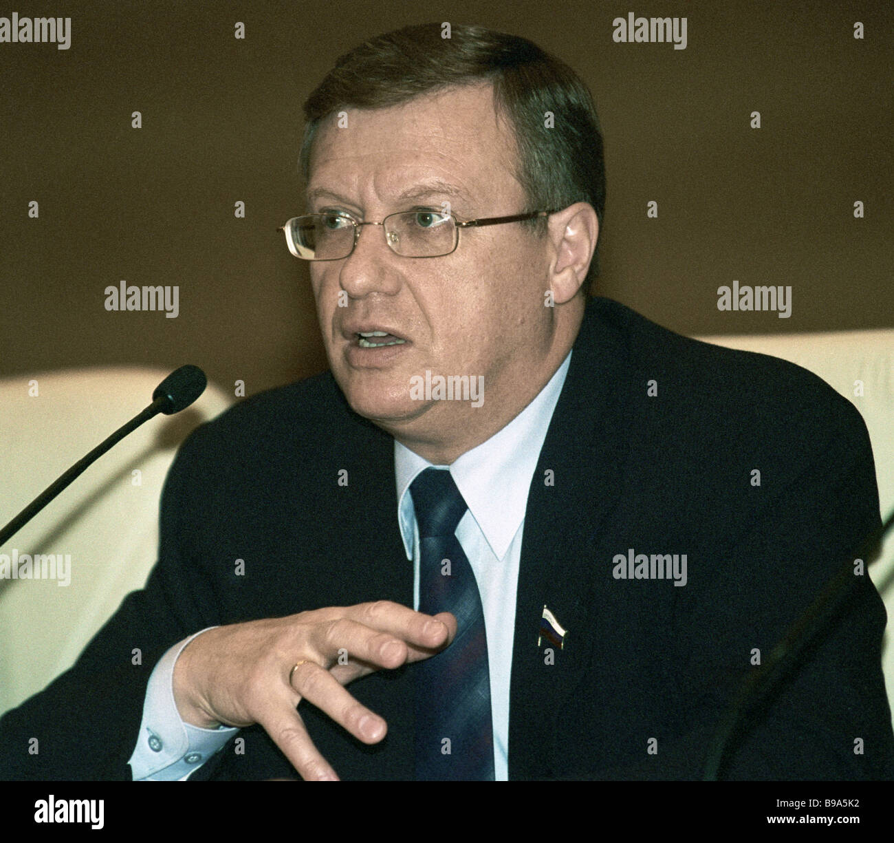 Andrei Nikolayev head of the Duma defense committee - Stock Image