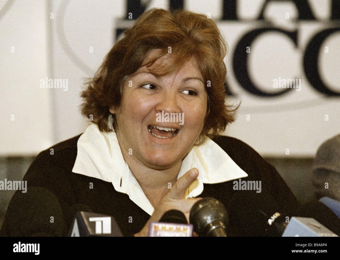 Daughter of Ernesto Che Guevara Aleida Guevara March at a news conference in ITAR TASS - Stock Image