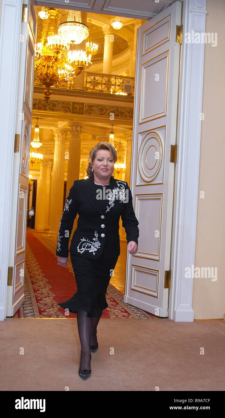 Valentina Matvienko officially taking the office of Governor of St Petersburg - Stock Image