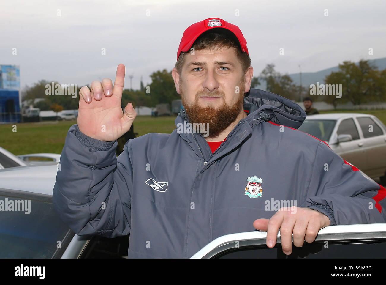 Chechen Vice Premier Ramzan Kadyrov - Stock Image